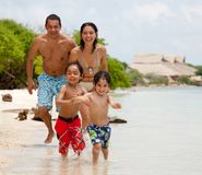 Family on holidays Royalty Free Stock Photos