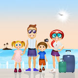 Family holidays Stock Photography