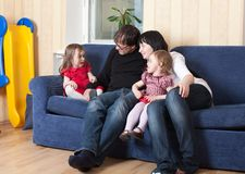 Family at home Stock Images