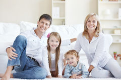 Family at home Royalty Free Stock Image