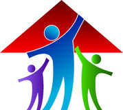 Family home. Illustration art of a family home with isolated background Royalty Free Stock Image