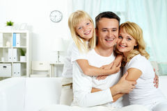 Family at home Stock Photos