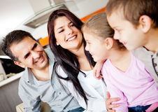 Family at home Royalty Free Stock Images