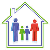 Family home Stock Photography
