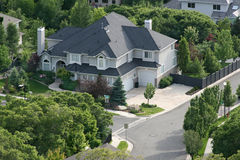 Family Home. Nice home for nice people to live in a neighborhood house Royalty Free Stock Images