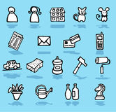 Family,home,adults icons set Royalty Free Stock Image