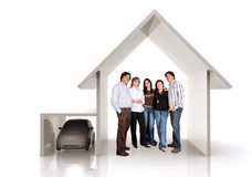 Family home and car Royalty Free Stock Photo