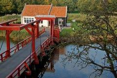 family home and drawbridge royalty free stock photos