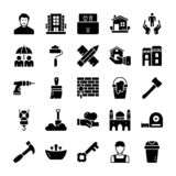 Family And Home Glyph Icons stock illustration