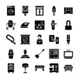Family and home Glyph Icons Pack stock illustration