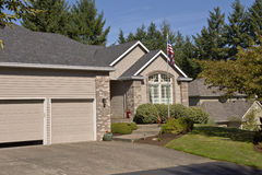 Family home in Happy valley Oregon. stock photo