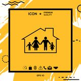 Family home icon Royalty Free Stock Images