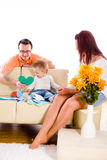 Family at home indoor Royalty Free Stock Photo