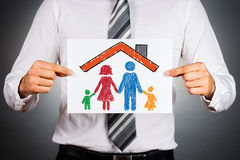 Family and home insurance concept. Royalty Free Stock Photo