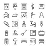 Family and home Line Icons pack vector illustration
