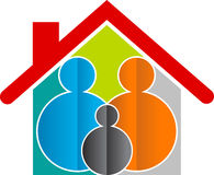 Family home logo. Illustration art of a family home logo with isolated background Stock Photos