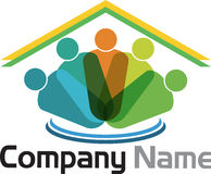 Family home logo Stock Photos