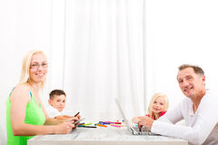 Family at home Royalty Free Stock Photography