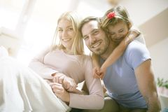 family home playing together Στοκ εικόνα με δικαίωμα ελεύθερης χρήσης