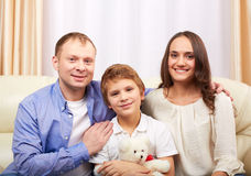Family at home Stock Image