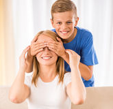 Family at home Royalty Free Stock Photo