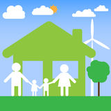 Family home vector design Stock Image