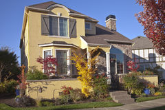 Family home in Wilsonville Oregon. Royalty Free Stock Images