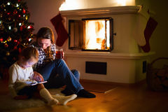 Family at home on winter Stock Photography