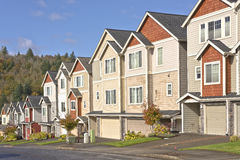 Free Family Homes In A Row Oregon. Stock Image - 78963961