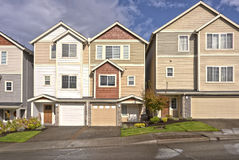 Family homes in a row Oregon. Royalty Free Stock Photography