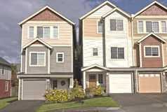 Family homes in a row Oregon. Stock Images