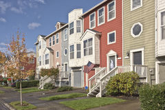 Family homes in a row Oregon. Stock Image