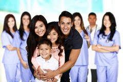 Family At Hospital stock images
