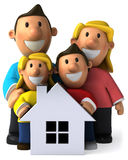 Family and house Stock Image