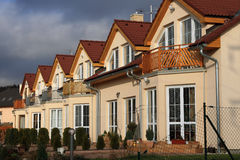 Family house. New constructed mansion - family house Stock Images