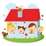 Family house royalty free illustration