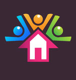 Family house logo Royalty Free Stock Image