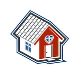 Family house abstract icon, harmony at home concept. Simple buil Royalty Free Stock Photography