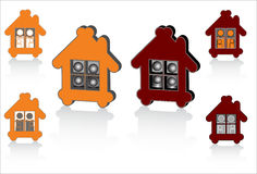 Family house abstract symbols for design Royalty Free Stock Photos