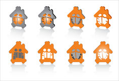 Family house abstract symbols for design Stock Photos