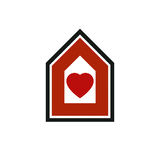 Family house abstract vector icon, harmony at home concept. Simp Stock Images