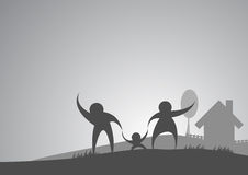 Family and house background Royalty Free Stock Photos