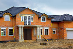 A family house building site Royalty Free Stock Images