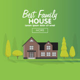 Family house building vector illustration. Stock Image