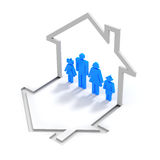 Family house concept Royalty Free Stock Photography