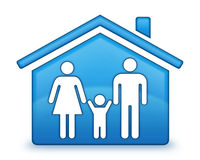 Family House Icon. A stylized icon symbolizing family housing created in Photoshop Stock Illustration