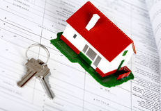 Family house and key. Stock Images