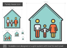 Family house line icon. Family house vector line icon isolated on white background. Family house line icon for infographic, website or app. Scalable icon Stock Image