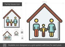 Family house line icon. Stock Photos