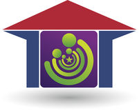 Family house logo Stock Photo